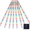 חיצוני LED שמש 10 אורות נטיף קרח אורות טיפת גשם שלג נופל מטאור מקלחת גשם צינור הגינה פאטיו קישוט מסיבת החג-במחרוזות תאורה מתוך פנסים ותאורה באתר