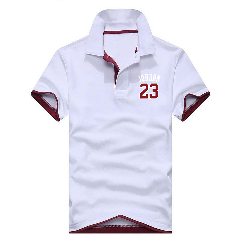 2019 Brand   Polos   Mens Printed Jordan 23   POLO   Shirts Cotton Short Sleeve Casual Stand Collar Male clothing   Polo   Shirt XS-3XL