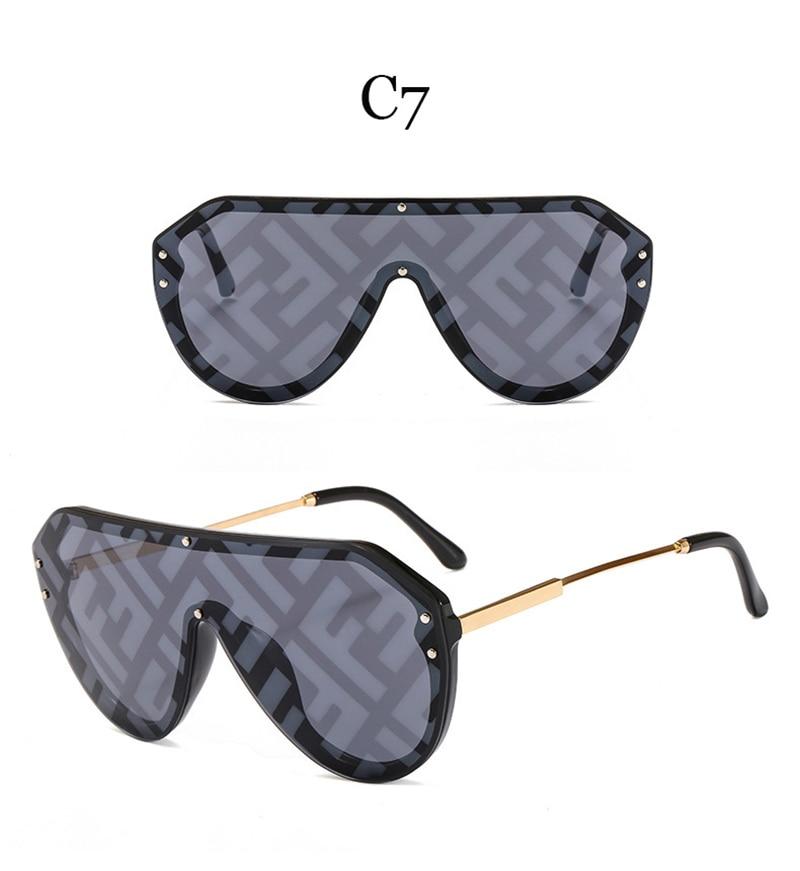 2019 New F Watermark One-piece Sunglasses PC Copy Film Men Women Sunglasses Girls Personality Colorful Fashion Wild Sun Glasse (13)