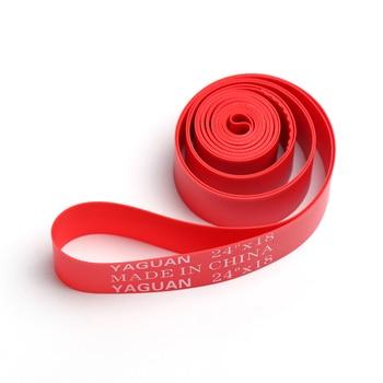 2 uds. Forro de llanta de bicicleta cinta Anti-punción almohadilla de tubo interior de bicicleta Liner rojo US 9 tamaños Forro de llanta de bicicleta accesorios de ciclismo