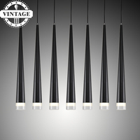 Metal Home Industrial Lighting Modern Led Conical Pendant Light Aluminum Amp For Dining Living Room Bar