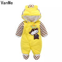 VanMe Baby Rompers Spring Baby Girl Clothing Sets 2017 Baby Boy Clothes Cotton Newborn Baby Clothes