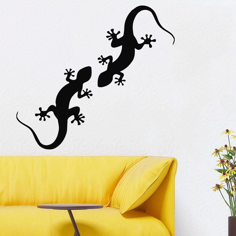 Double Lizards Wall Decals Reptile Art Animals Mural Removable Vinyl Pets Living Room Wall Stickers Home Decal-in Wall Stickers from Home u0026 Garden on ... & Double Lizards Wall Decals Reptile Art Animals Mural Removable Vinyl ...