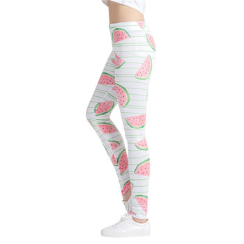 cde0a1d137220 Asmpin 3D Friut принт 2018 Hrajuku женские тонкие облегающие леггинсы для  фитнеса Высокая талия брюки-