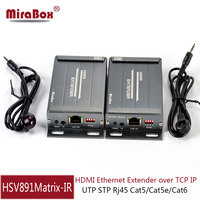 MiraBox 1080p Cat5 Matrix HDMI Extender Support IR Control 100m 400ft 328ft Via Cat5 cat6 rj45 IP TCP HDMI Ethernet Extender