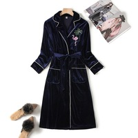 Women Nightdress Loose Home Dressing Gown Winter Velvet Warm Soft Long Sleeve Nightgown Sexy Sleepwear Casual Intimate Lingerie