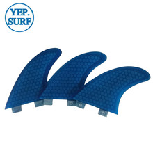 Surfboard Fibreglass Fin FCS G5 Honeycomb Surf Quilhas blue 5 colors