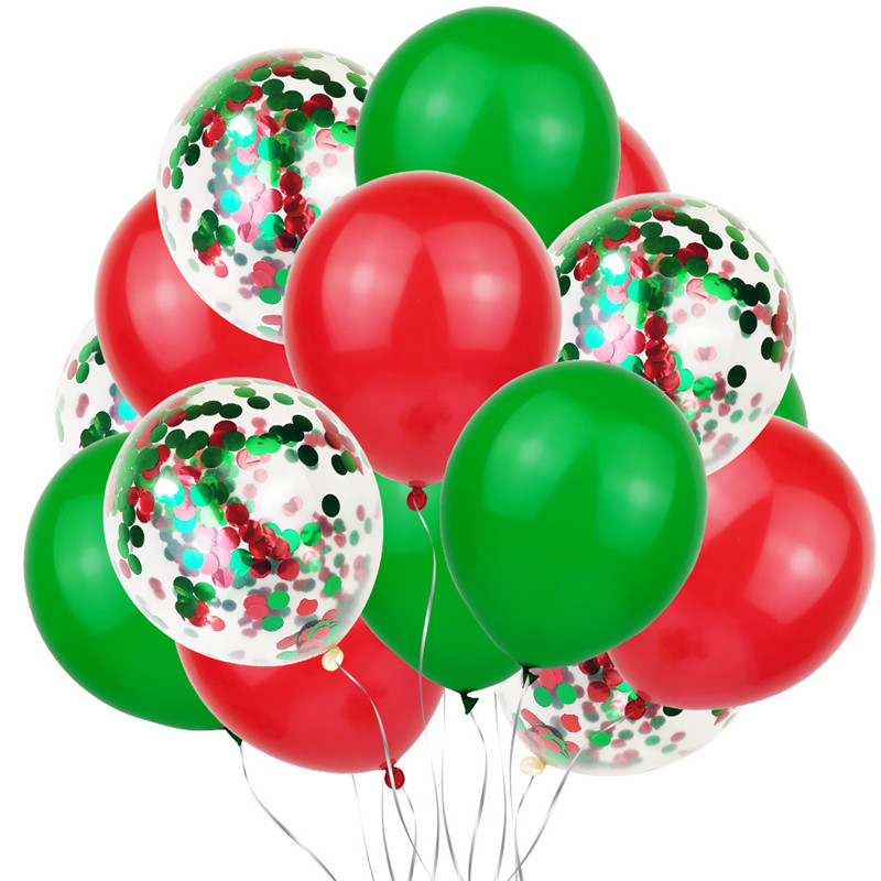 Cartoon Hat 10pcs Sequin Balloon Set 12 Inch Christmas Wedding Birthday Colorful Ballon Confetti Balloon Kids Party   Hat