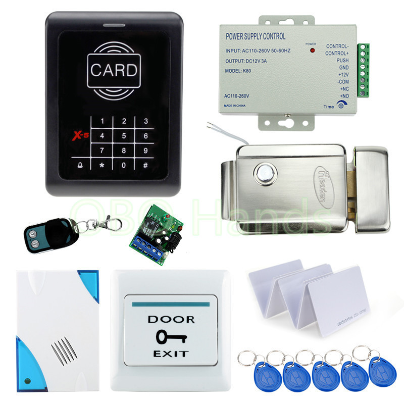 ФОТО Full RFID access control system kit set with electric door lock +power supply +door switch for home/office free fast shipping