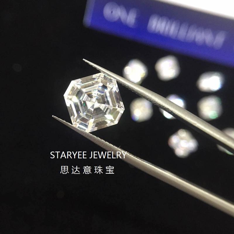 Certified Charles Colvard Forever One Asscher Cut Moissanite Loose Diamond  Stones 1 2 Carat VVS D E F Color Selector Past
