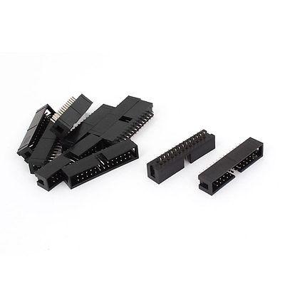 50 Pcs Dual Row Straight 26 Pin 2.54mm Male Header Socket Strip PCB Connector DC3-26 10 pair 40 pin 2 54mm male female sil socket row strip pcb connector