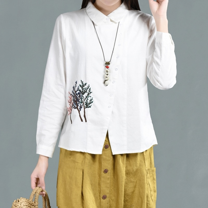 Women's Clothing Women Tops Summer 2019 Oriental Blouse Spring Chinese Style Shirt Peasant Womens Tops And Blouses Japanese Streetwear Aa4696