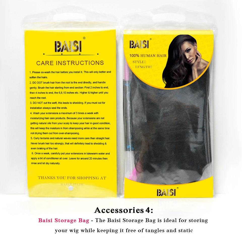 BAISI Body Wave Brazil 360 Lace Frontal 100% Hair Remy Hair Hairline - Rambut manusia (untuk hitam) - Foto 6