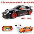1:24 дистанционного управления автомобилем модели, 911 GT3 электрический спортивный автомобиль, пластиковые diecasts, toy транспорт, educational toys подарки, бесплатная доставка