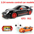 1:24 modelos de carros de controle remoto, carro esportivo gt3 911 elétrica, plástico diecasts, toy vehicles, educação toys presentes, frete grátis