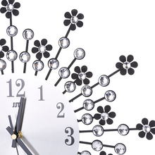 Radial Flower Big 3D Iron Decorative Wall Clock Retro Design The Clock On Wall