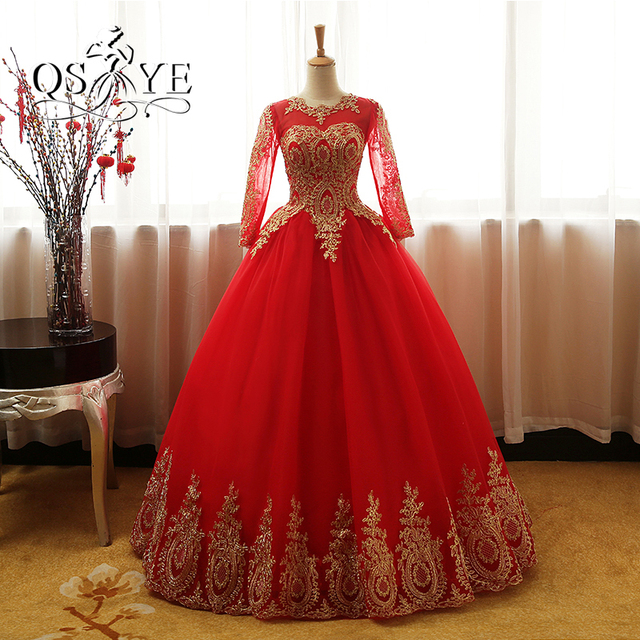 2017 New Arrival Red Ball Gown Formal Evening Dresses Robe De Soiree