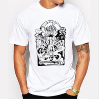 LEQEMAO Summer Led Zeppelin T Shirt Men Short Sleeve Heavy Metal Rock Band Led Zeppelin Big
