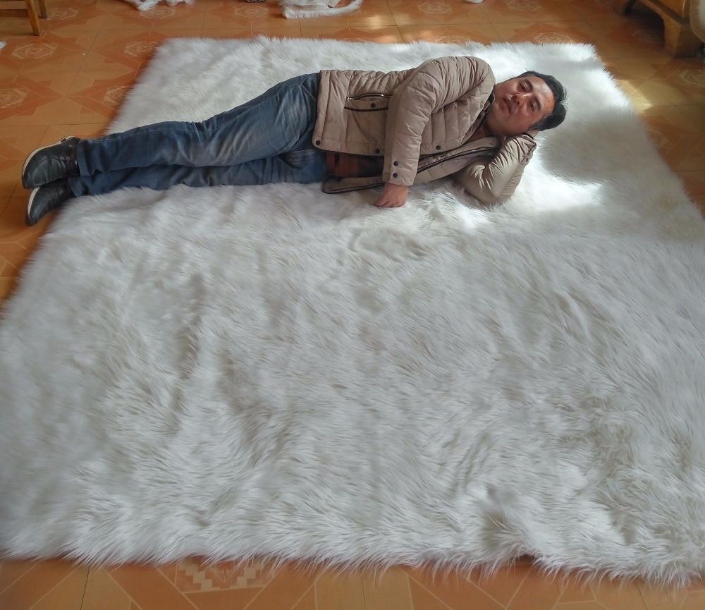- White Faux Sheepskin Rug Faux Fur Blanket Faux Fur ...