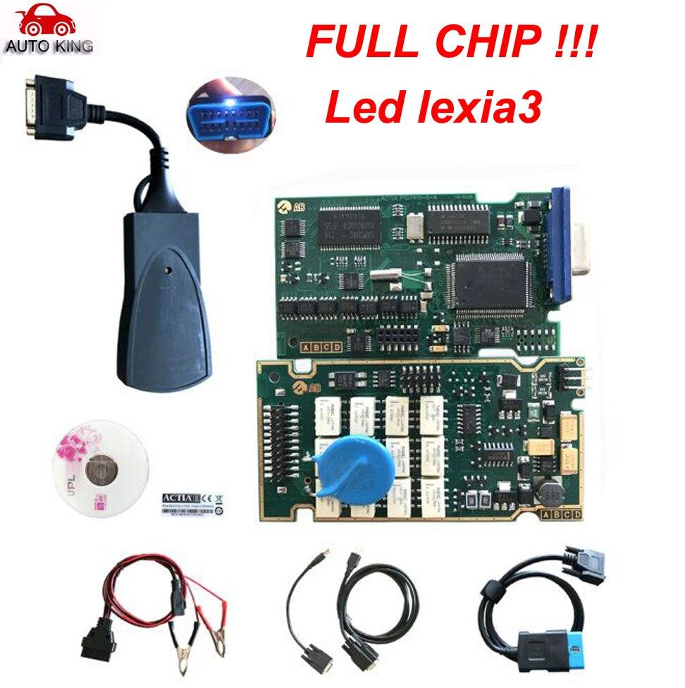 Factory SALE! PP2000 V25 Lexia3 Lexia-3 V48 Diagbox 7.65 Serial 921815C With Original Full Chip Lexia 3 PP2000  Diagnostic Tool