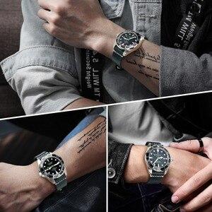 Image 5 - MAIKES Vintage Öl Wachs Leder Uhr Band Uhr Zubehör Armband 20mm 22mm 24mm Blau Armband Armband für Omega MIDO