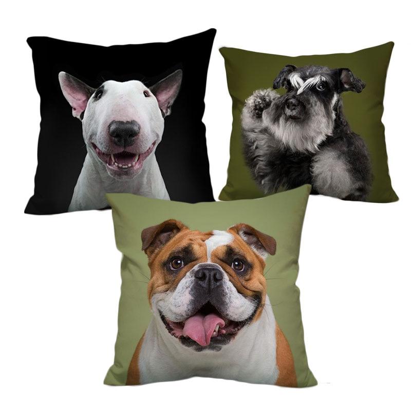 Puppy Bull Terrier Bulldog Schnauzer Dog Toy Stuffed Animal Cute Birthday Gift Idea 1PCS