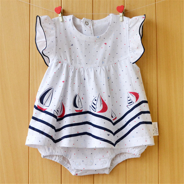 919fb2d0b Summer Baby Girl Rompers Flower Girls Clothing Sets Spring Newborn ...