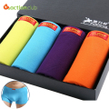 Mens Underwear Boxer Shorts Man 4pcs/Box Cuecas Calvin Boxer Shorts Soft Breathable Boxers Men's Solid Underwear Pluse size XXXL