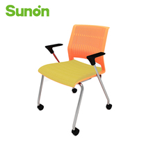 Ergonomic Computer Chair for Office Chair With Stable Armrest Yellow Seat Chairs Rolling Wheels Oversea Fast Shipping