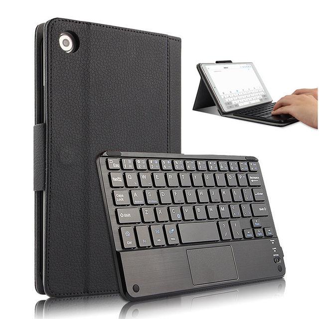 Pokrowiec na Huawei MediaPad M5 8.4 cala pokrowiec ochronny osłona klawiatury Bluetooth Media pad m5 SHT-W09 8.4Tablet PU skórzany pokrowiec