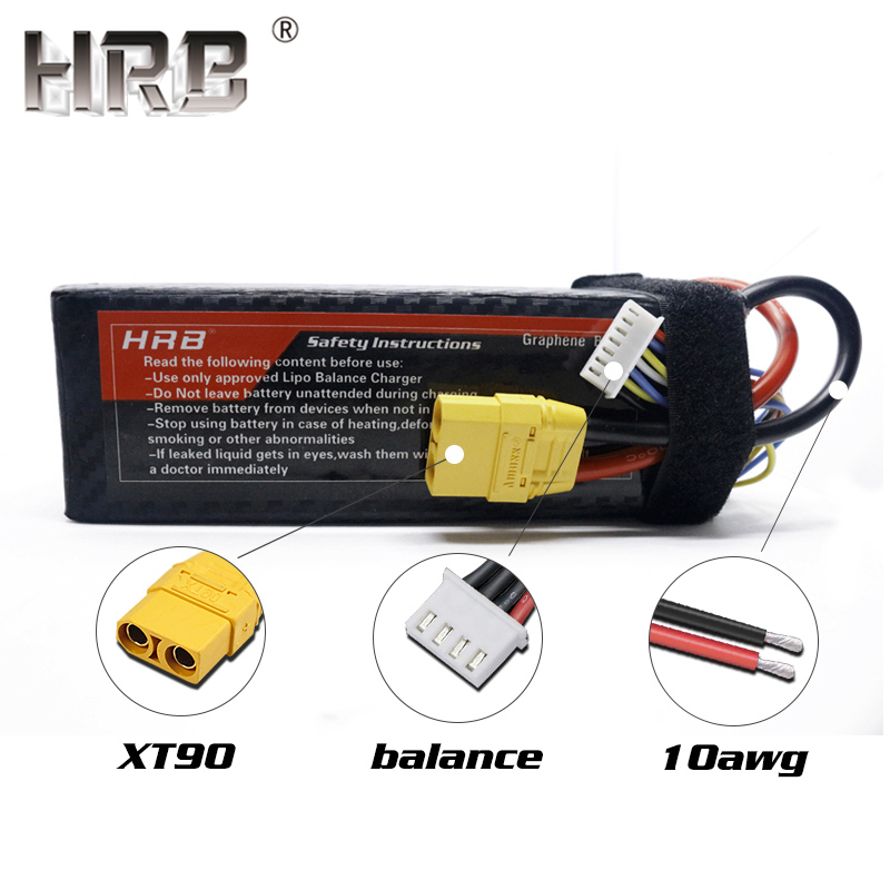 Hrb 22.2 v 5000mah graphene 6 s lipo 배터리 100c ec5 xt90 rc catamaran 보트 4wd 자동차 규모 트럭 부품 deans t xt60 커넥터-에서부품 & 액세서리부터 완구 & 취미 의  그룹 2