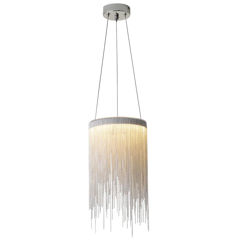 Post Modern Aluminum Pendant Lamp Novelty Aluminum Chains 12W LED Pendant Light Dining Room Living Room