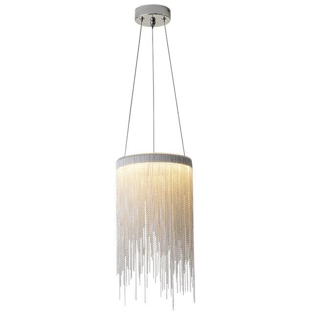 Современная алюминиевая Подвесная лампа, новинка, Алюминиевые цепочки 12 Вт, светодиодный подвесной светильник для столовой, гостиной, спальни, светильник (DL 60)