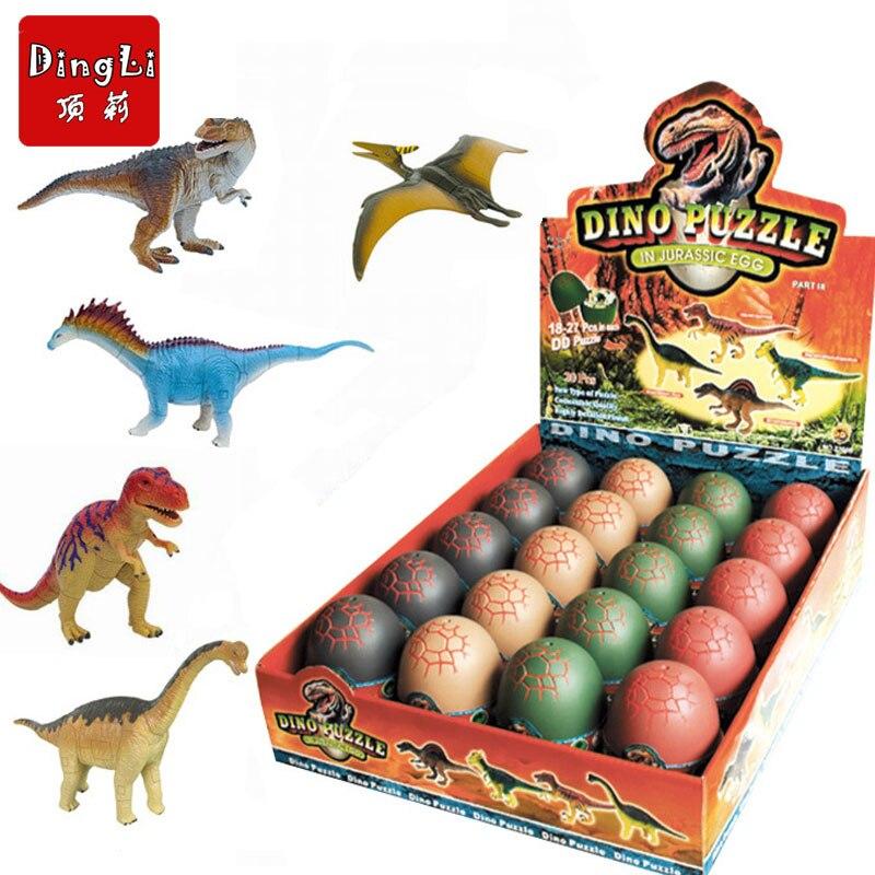 4pcs/lot Big Dinosaur Easter Surprise Eggs Dinosaur Toy Model Building Kits Jurassic Dinosaurs Toys For Children Gift Magic Egg