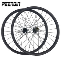 bicicleta aro 26 mountain bike wheels 2015 Tech improved design Carbon MTB wheelset/rim 35mm Width Clincher Hookless Tubeless AM