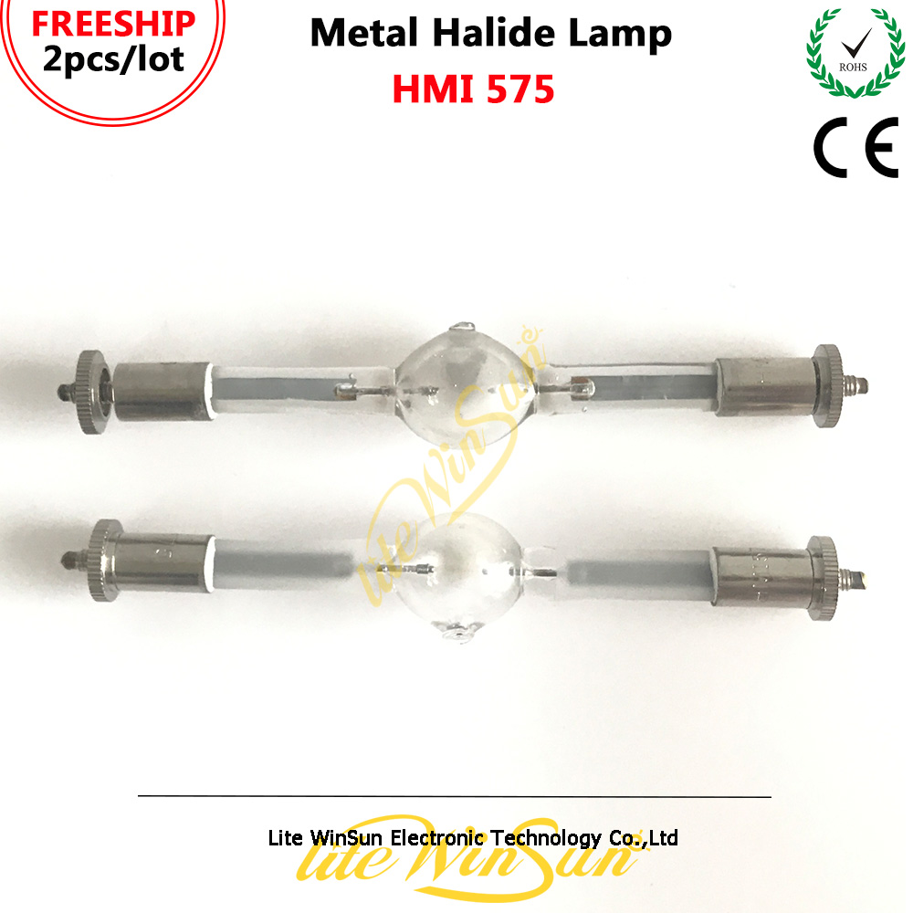 Litewinsune 2 قطع HMI575W المرحلة الإضاءة مصباح HMI 575 واط