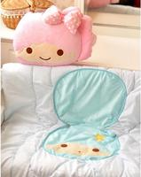 candice guo! cute plush toy little twin stars beauty girl boy cushion air condition quilt blanket birthday gift 1pc