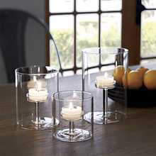 Modern Glass Candle Holder Matching Cup Crystal Candlesticks for Wedding Dinner Home Decoration