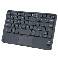 Windows PC 59 Keys Ultra Slim Mini Bluetooth Keyboard With Touch Pad Panel