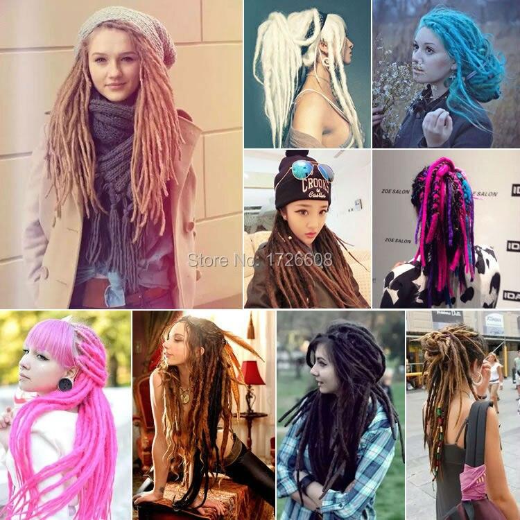 2016 Punk Soft Dreadlocks Women Fashion Braids In Hair Extensions