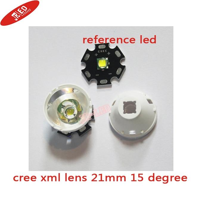 10pcs 15 Degrees LED Lens Reflector For Cree XML XM-L XM-L2 Lamp Light Free Shipping