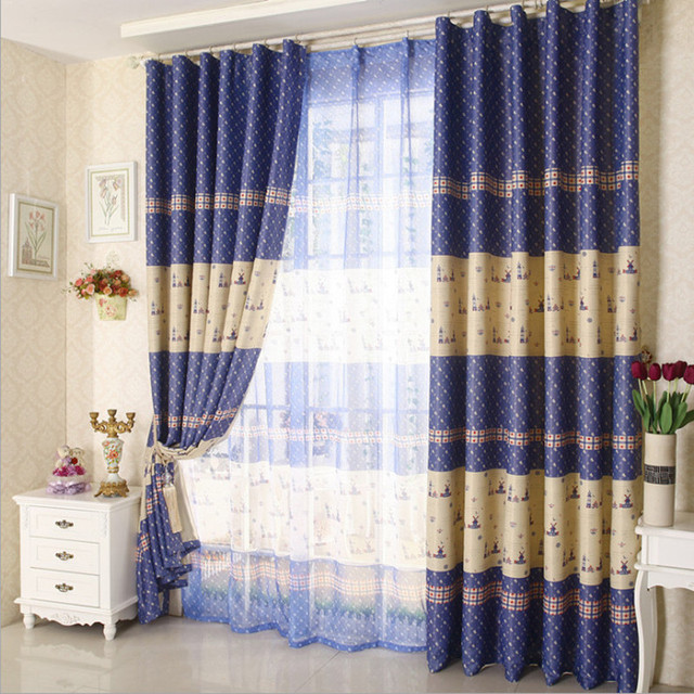 Special price living room bedroom balcony shade curtain 2 color ...
