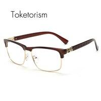 Latest Trend Cross Eye Glasses Frames For Women UV400 Men Chrome Retro Eyeglasses W808