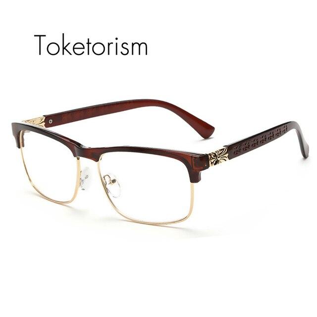 Toketorism Latest trend cross eye glasses frames for women UV400 men ...