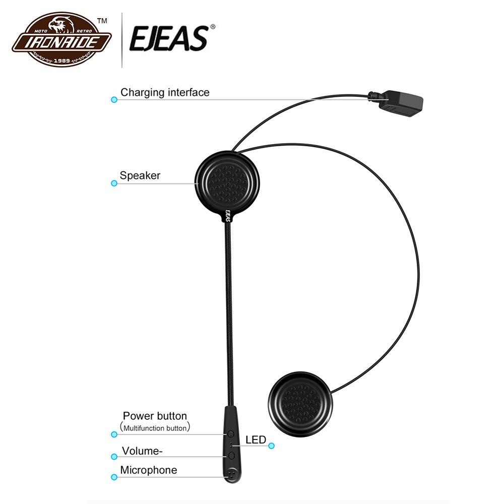 EJEAS Moto interphone Bluetooth casque Bluetooth Écouteurs Casque Bluetooth Casque intercommunication sans fil Moto