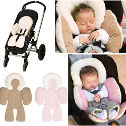 Reversible Baby Infant Newborn Stroller Body Support Cushion Soft Sleeping Pillow Safe Car Pillow Qualified Baby Neck Protection