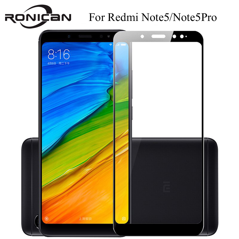 Full cover Tempered Glass For XIAOMI Redmi note 5 PRO note5 prime global 5.99 inch  Screen protective smartphone on toughened-in Phone Screen Protectors from Cellphones & Telecommunications