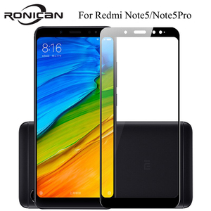 Image 1 - Full cover Tempered Glass For XIAOMI Redmi note 5 PRO note5 prime global 5.99 inch  Screen protective smartphone on toughened