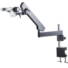 Abrazadera de Pilar articulado, 76mm, soporte de Microscopio, Zoom de brazo de dirección ajustable, accesorios de Microscopio estéreo, Trinocular