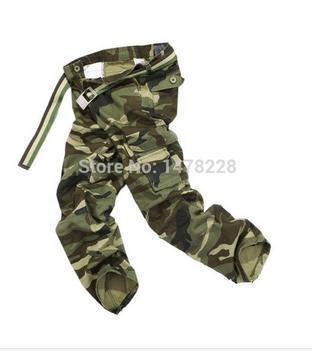 Мужские армейские многофункциональные повседневные свободные длинные брюки-карго, рабочие камуфляжные брюки, размер 28-38 - Цвет: army Camouflage